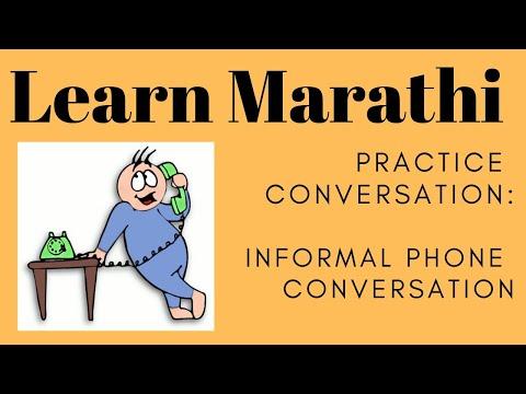 Simple Marathi Conversation Informal Phone Conversation : Learn Marathi