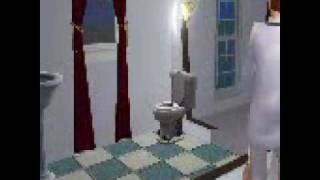 Sims 2. Toddler trys and uses the toilet.