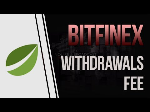 Bitfinex Announces Its 3% Withdrawal Fees