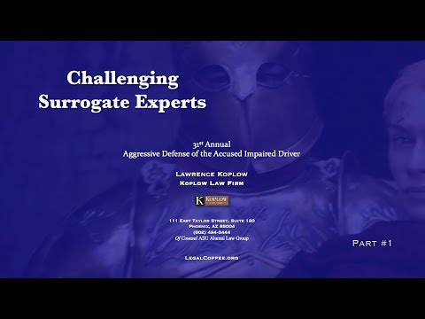 Challenging Surrogate Experts #1