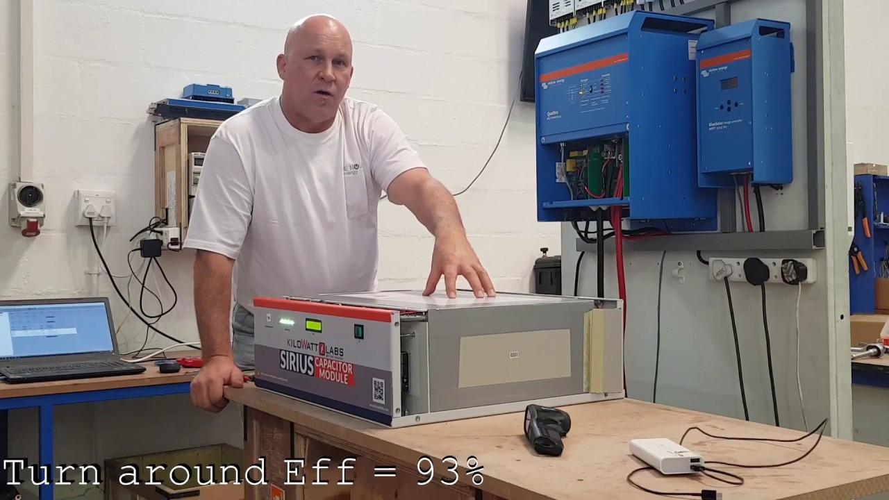 KiloWatt Labs Sirius Super Capacitor battery test 3 5kWh