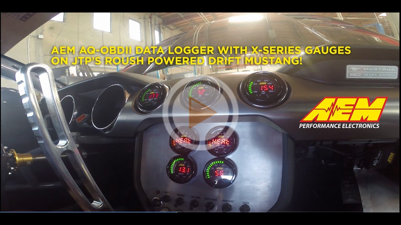 JTP's FD Mustang gets AQ-1 OBDII Logger and X-Series Gauges with CAN  Connection!