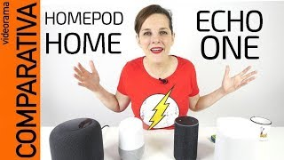 MEGA COMPARATIVA: Apple Homepod Google Home Amazon Echo Sonos One