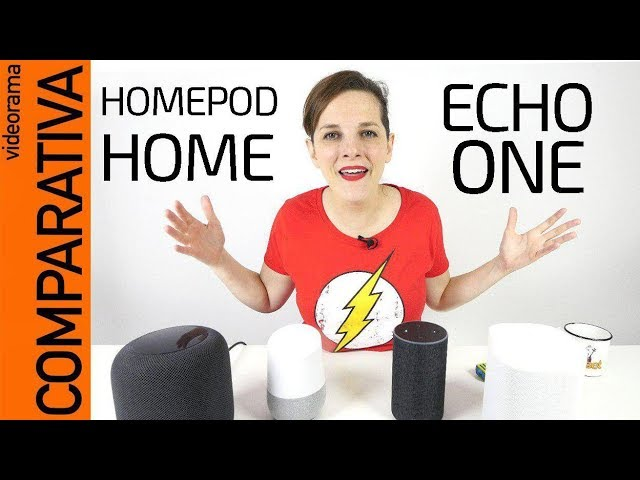 MEGA COMPARATIVA: Apple Homepod Google Home Amazon Echo Sonos One