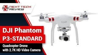 DJI Phantom P3 STANDARD Quadcopter Drone with 2 7K HD Video Camera Product Review  – NTR