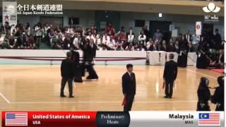 (USA)America (10)5 - 0(0) Malaysia(MAS) - 16th World Kendo Championships - Men's Team