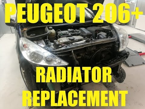 Peugeot 206+  Front bumper removal and radiator replacement [ HOW TO ]