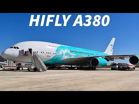 FIRST Hifly A380 EMERGES with SPECIAL LIVERY