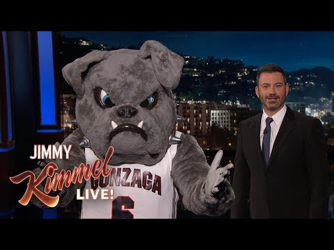 """Gonzaga"" Mascot Interrupts Jimmy Kimmel's Monologue"
