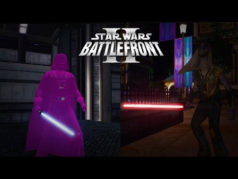 Darth Jar Jar & Pink Darth Vader! Funny Star Wars Battlefront 2 Mods