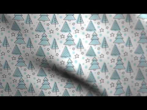 Christmas Background - Fabric Waving (gift wrapping paper) Blue // Free Motion Graphics