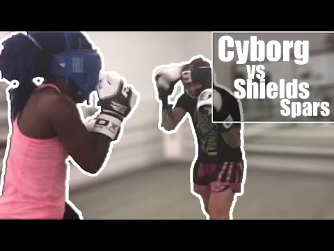 #1 UFC fighter Cris Cyborg Spars #1 boxer Claressa Trex Shields for UFC 214 training camp boxing mma