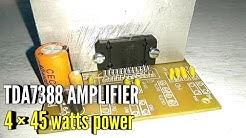 tda7388 amplifier circuit | 4 channel power amplifier