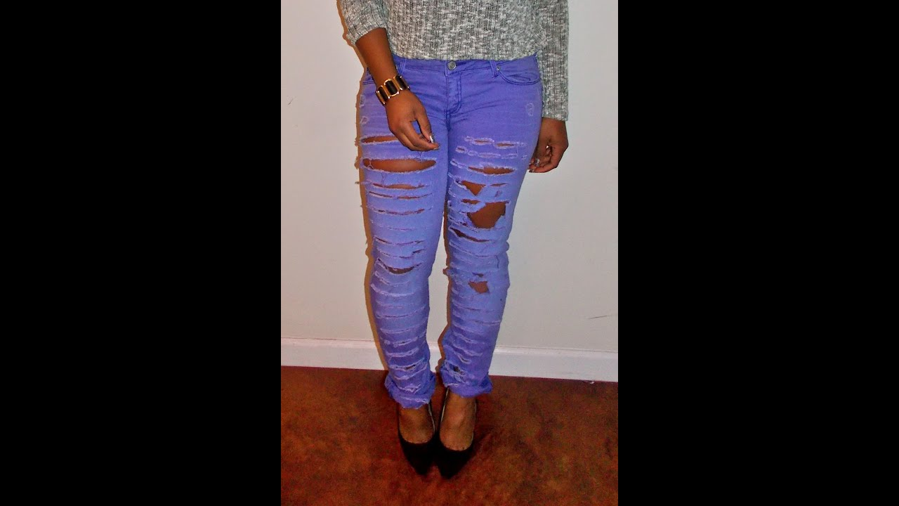 Diy Youtube Halloween Costume: DIY: Ripped Jeans