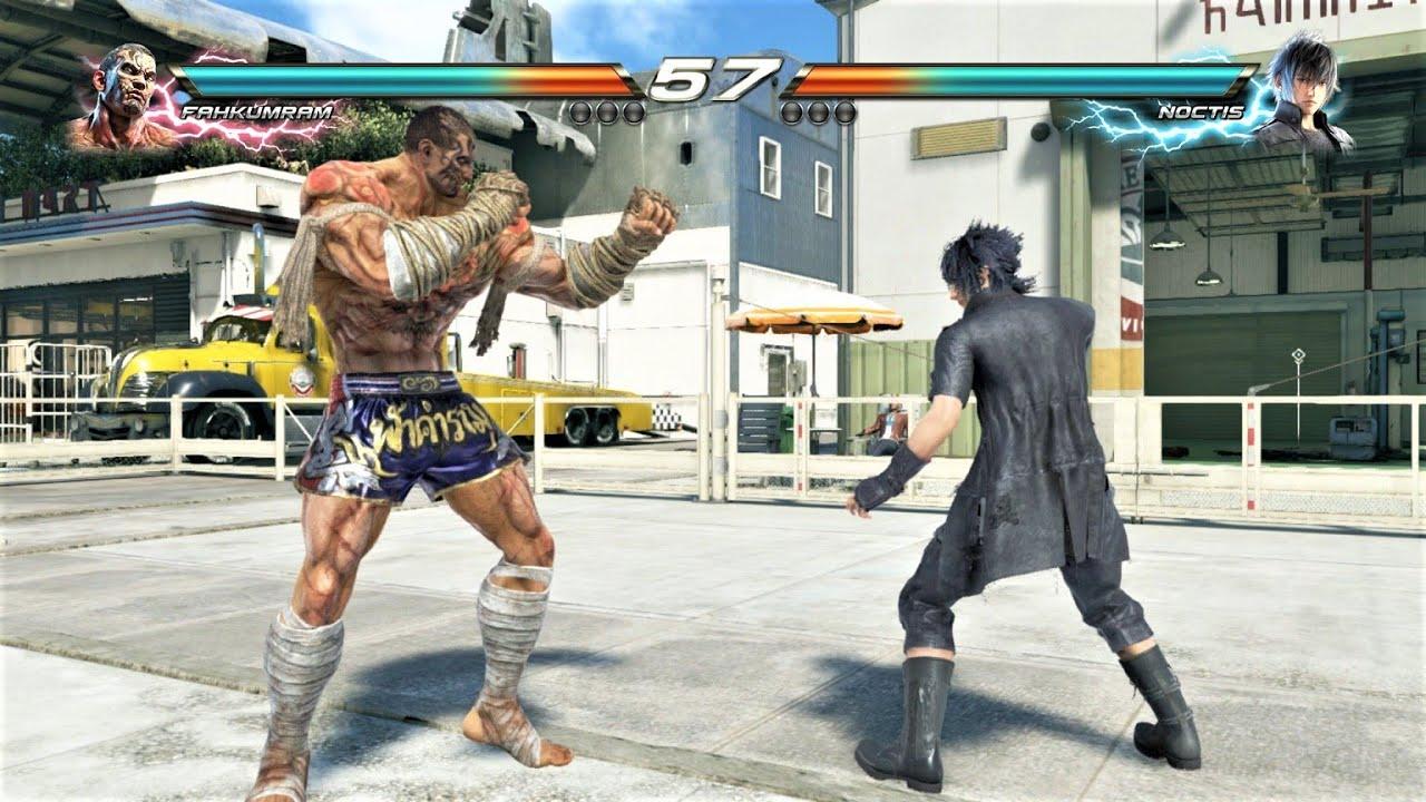 Fahkumram vs Final Fantasy XV Noctis (Hardest AI) - TEKKEN 7