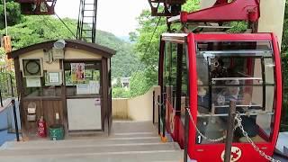 城崎ロープウェイ 温泉寺駅到着 Kinosaki Aerial Tramway Onsen-ji Temple Station