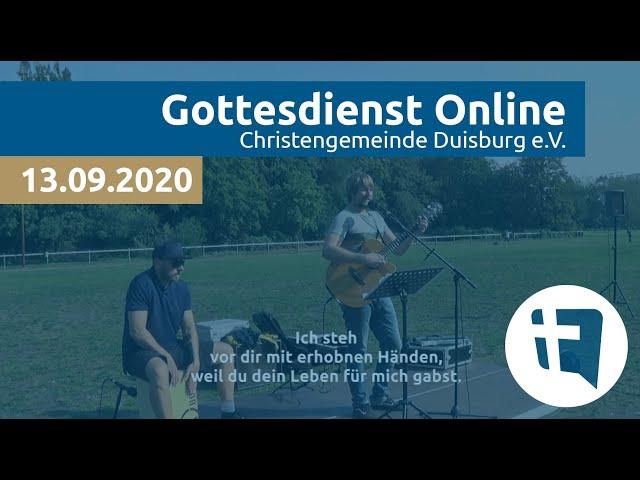 Christengemeinde Duisburg e.V. // Online-Gottesdienst // 13.09.2020