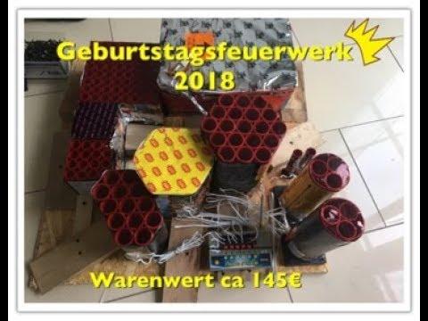 Geburtstagsfeuerwerk 2018Warenwert ca 145 €
