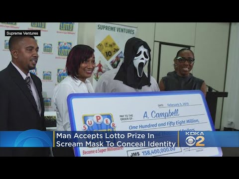 Kari Steele - Man Picks Up His Lotto Prize In A Scream Mask To Hide Identity!