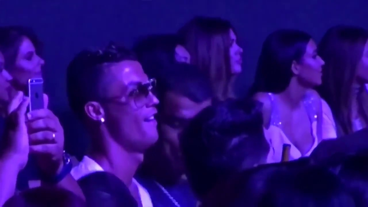 Cristiano Ronaldo dancing with Kim Kardashian in Las Vegas