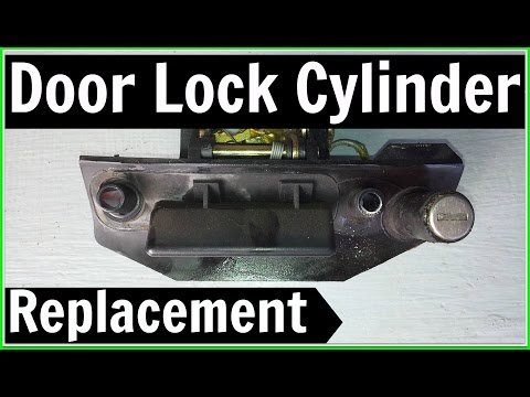 VW T4 Transporter Door Lock Cylinder Replacement, Key Barrel Repair Fix