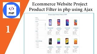 Ecommerce Website Project | Source Code | Free Download | Product Filter in php using Ajax🔥🔥