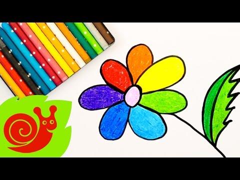 Учим цвета радуги и рисуем цветик-семицветик, обучающее видео для детей