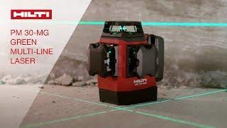 INTRODUCING the Hilti PM 30-MG green multi-line laser