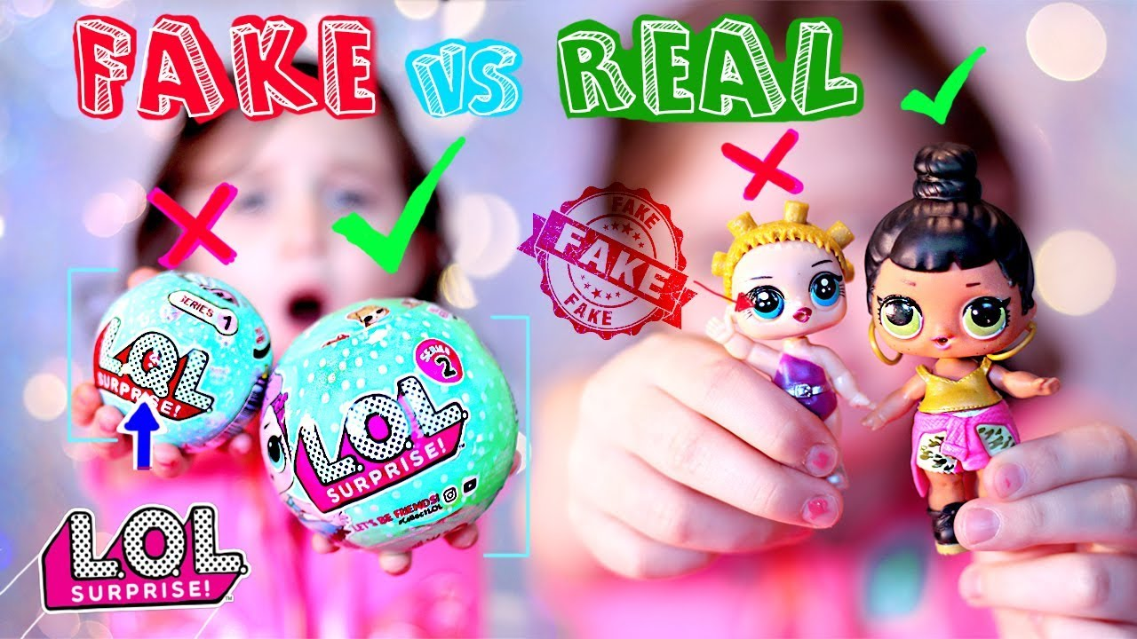 FAKE VS REAL LOL Surprise Dolls , LQL and L.O.L doll Unboxing
