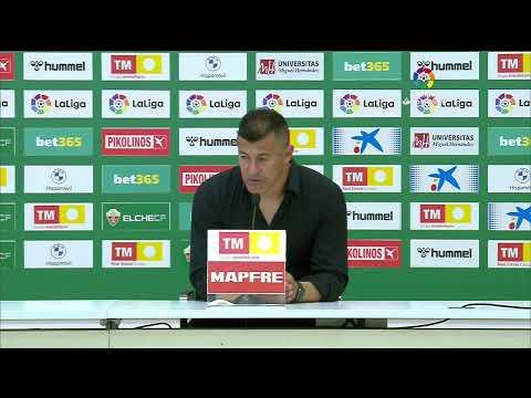 Rueda de prensa Elche CF vs RC Celta