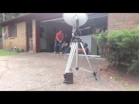Initial Test of Ultrasonic RFI Location System
