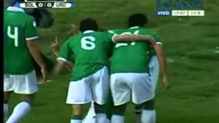 Gol de Carlos Saucedo - Sel Bolivia 1 - Sel Uruguay 0 - Elim Brasil 2014 - 16-10-2012