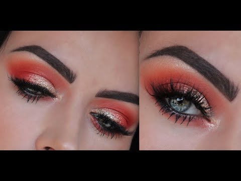 Gold and Orange Makeup Tutorial