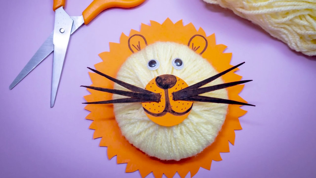 How to Make a 3D Lion Fiber Craft Tutorial