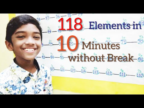 Elements: 118 elements in 10 minutes