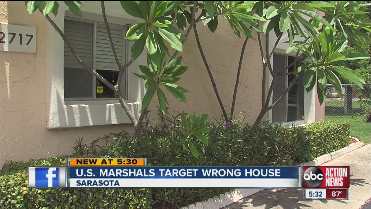 U.S. Marshals target wrong house in Sarasota; take wrong woman and boyfriend into custody