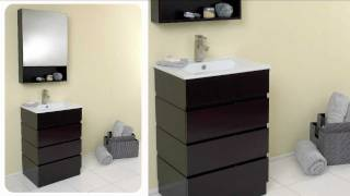 Fresca Amato Modern Bathroom Vanity W/ Solid Oak Wood & Espresso Finish - Fvn6124es