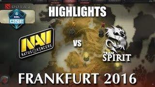 NaVi vs Team Spirit  Game 1 ESL One Frankfurt 2016 EU Quals Лучшая игра Русские комментаторы
