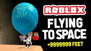 FLYING TO SPACE in ROBLOX BALLOON SIMULATOR