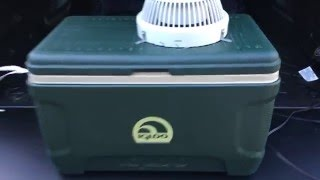 Portable Truck Bed Air Conditioning Cap Shell A/C Igloo Cooler Ice Electric Fan Tacoma Dog Kennel