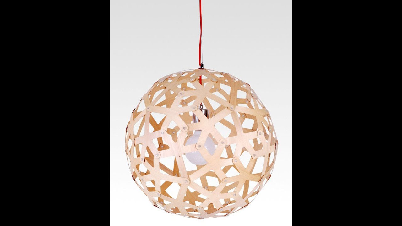Buy wood pendant light in melbourne sphere youtube for How to make a wooden pendant