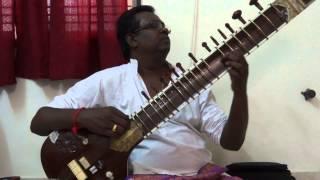 "sitar,""oru Neram Enkilum""on sitar- jaijaivanthi,By Nanganallur P.V.S.Jagath eesan,chennai"