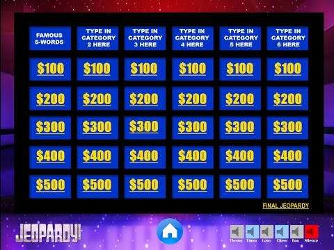 Download THE BEST FREE Jeopardy Powerpoint Template How To Make And Edit Tutorial