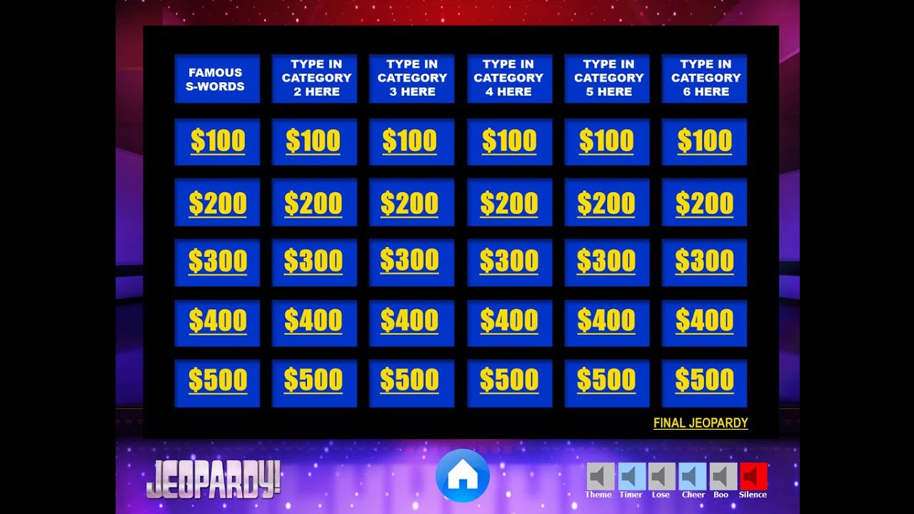 Jeopardy ppt yeniscale download the best free jeopardy powerpoint template how to make toneelgroepblik Image collections