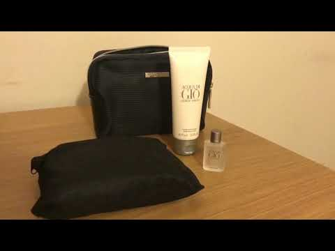 Qatar Airways Business Class Mens Amenity Kit (Giorgio Armani) - Review