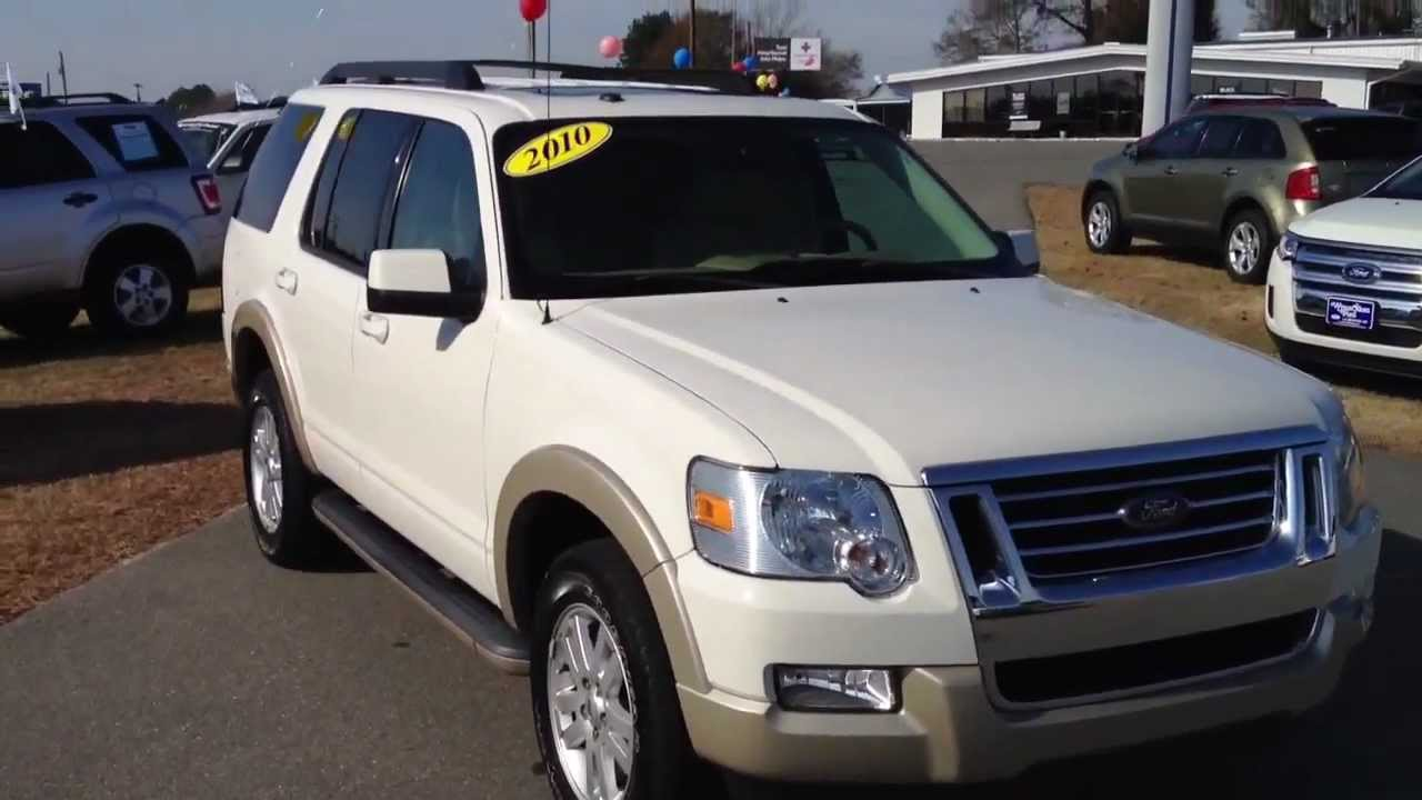 2010 Ford Explorer Eddie Bauer White Suede Youtube