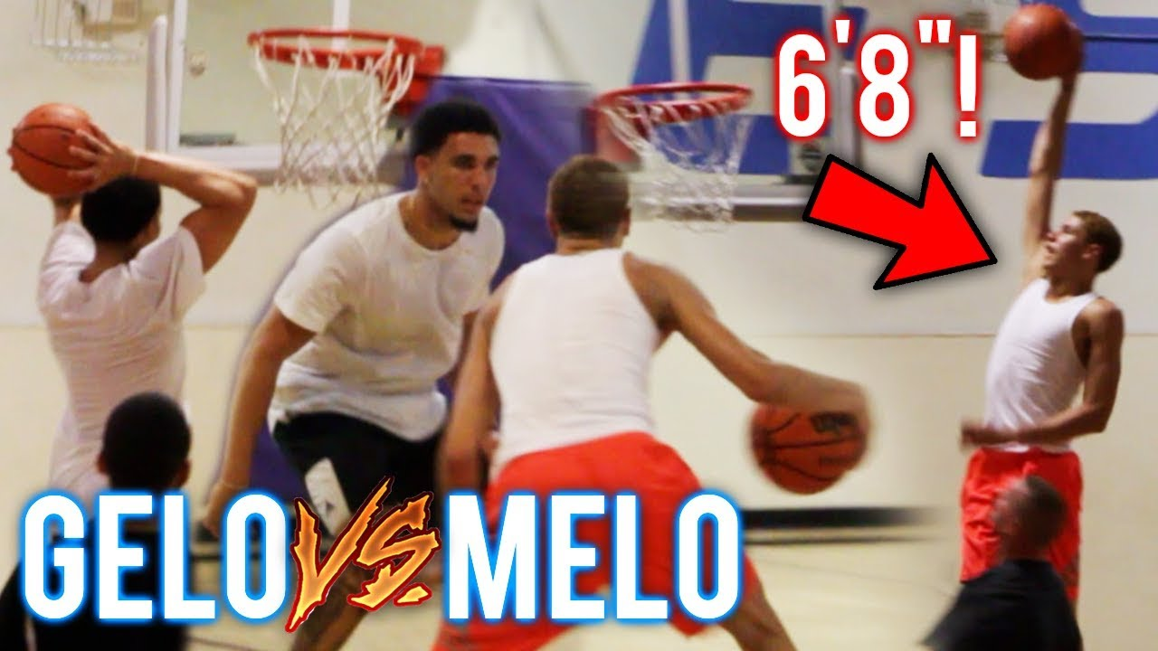 Lamelo Ball 6 7 Now Liangelo Ball Vs Melo Crazy Bounce Both Nba Ready Jba Champs Youtube