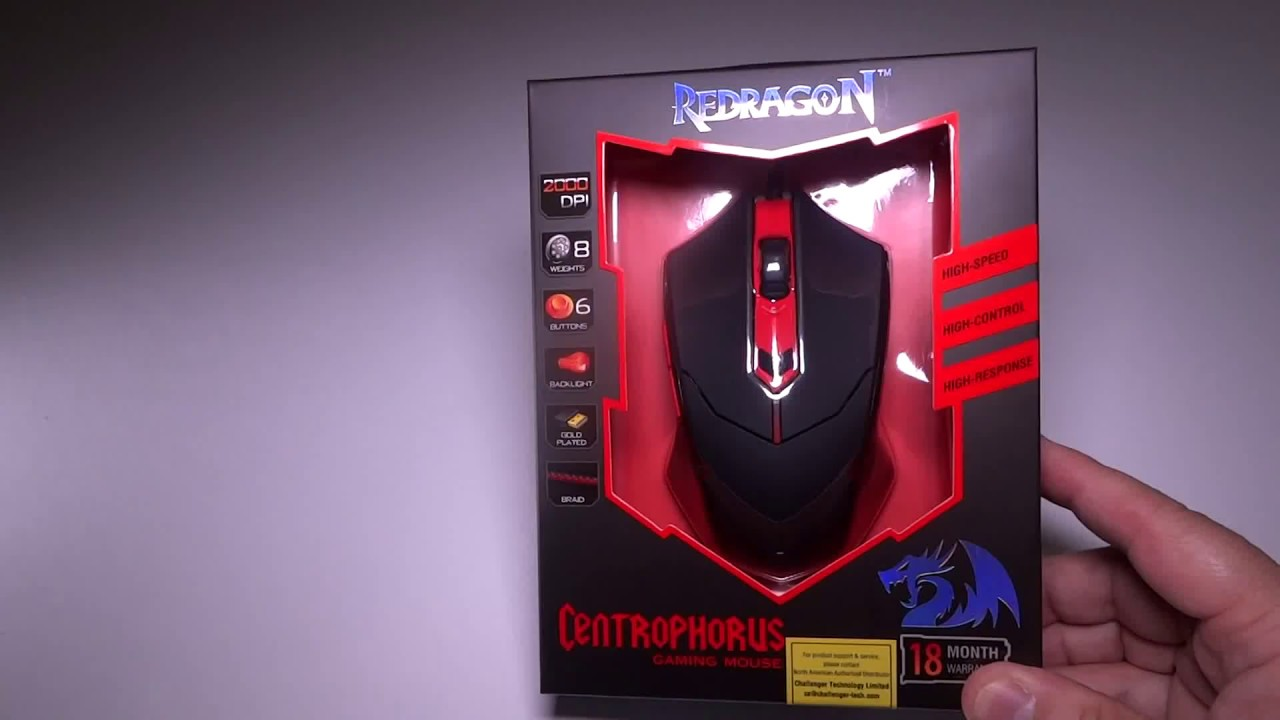 Redragon M601 Centrophorus 2000 Dpi Gaming Mouse Awesome 13 99