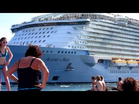 Allure Largest ship in the world AMAZING VIDEO (port of fort lauderdale)