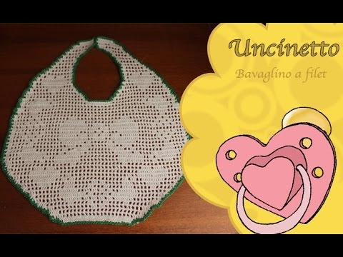Uncinetto Bimbi Bavaglino A Filet Con Fiocco How To Do Bib The